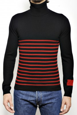 PURE CASHMERE HIGH NECK SWEATER Black