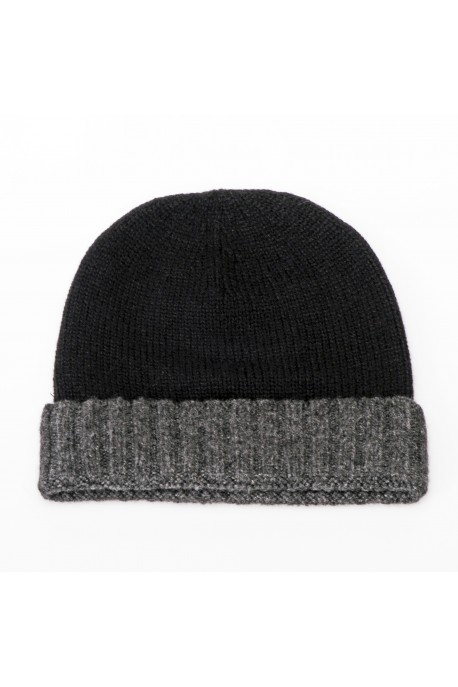 PURE CASHMERE TWO-COLOURED HAT
