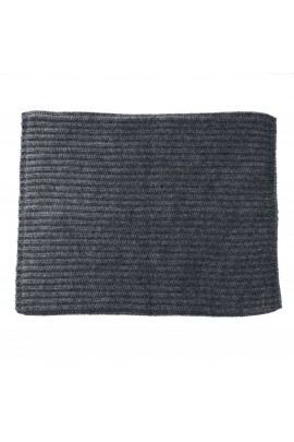 PURE CASHMERE GRAY MELANGE NECK WARMER