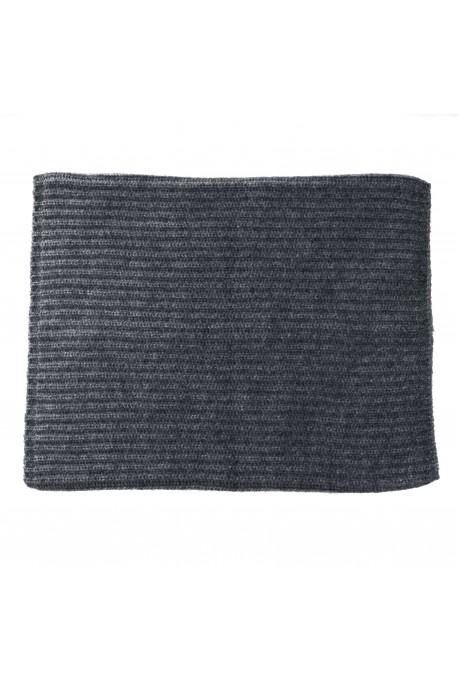 PURE CASHMERE NECK SCARF Gray Medium Melange