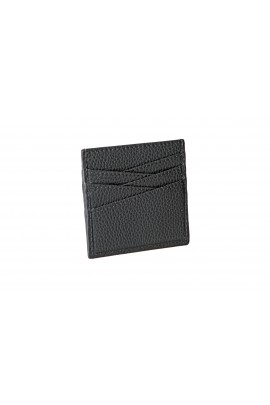 LEATHER CARD HOLDER Gray