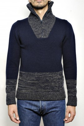 CASHMERE BLEND HIGH NECK SWEATER