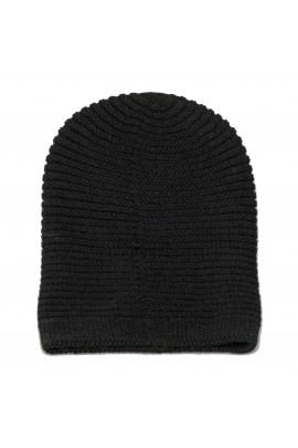 Cappello in puro cashmere nero