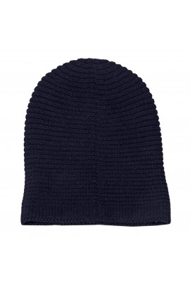 PURE CASHMERE HAT Blue Navy