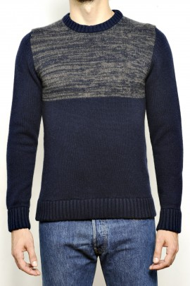 CASHMERE BLEND SWEATER TWO-COLORED