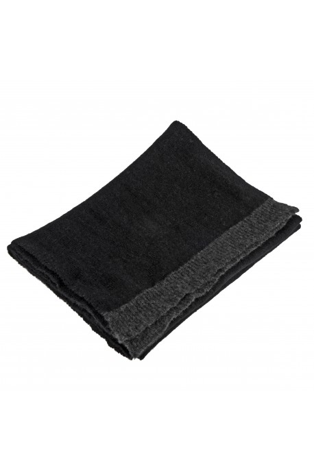 PURE CASHMERE LIGHT SCARF Black