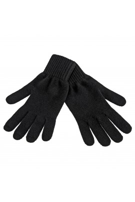 PURE CASHMERE GLOVES Black