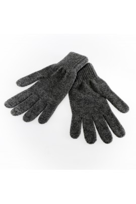 PURE CASHMERE GLOVES Gray Medium Melange