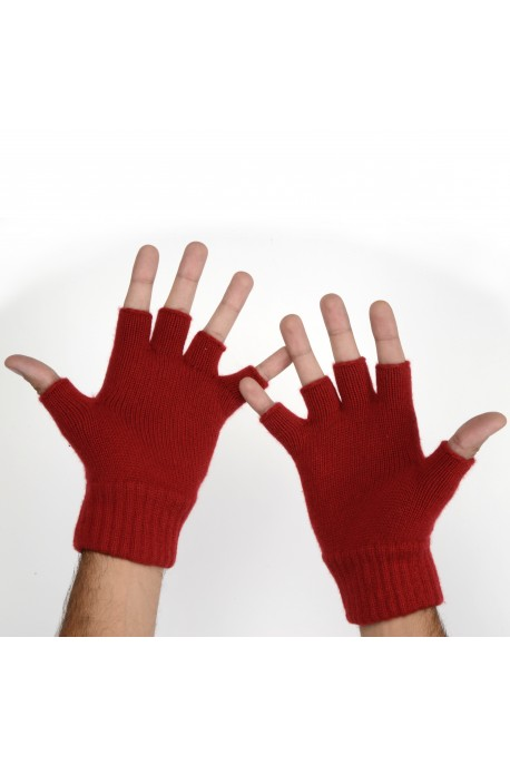 PURE CASHMERE GLOVES Red