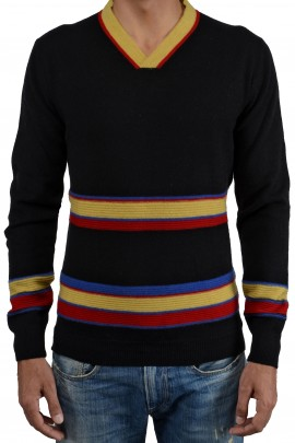 PURE CASHMERE MULTYCOLOR SWEATER