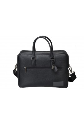 BLACK BUSINESS LEATHER BAG
