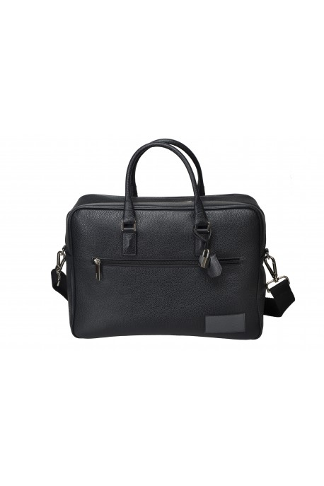 BORSA BUSINESS IN PELLE Nero