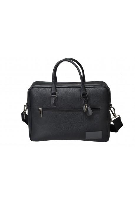 BUSINESS LEATHER BAG Black