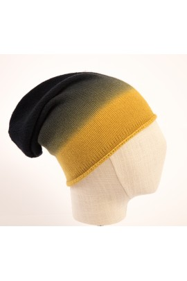 Cappello in puro cashmere degradè giallo