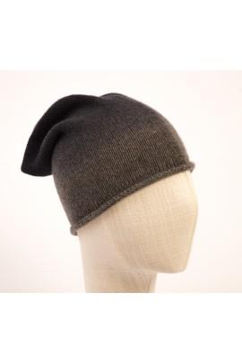 Cappello in puro cashmere degradè grigio melange