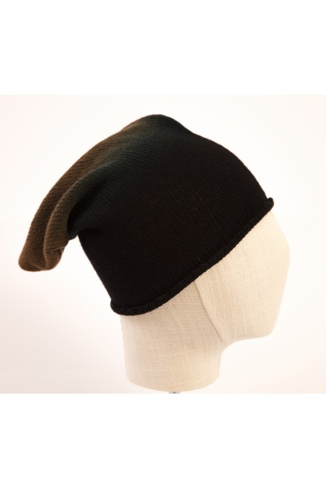 CAPPELLO IN PURO CASHMERE DEGRADE' VERDE