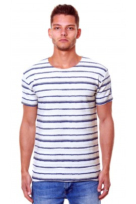 COTTON JERSEY MULTYSTRIPES T-SHIRT