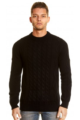 PURE CASHMERE BLACK TWIST SWEATER