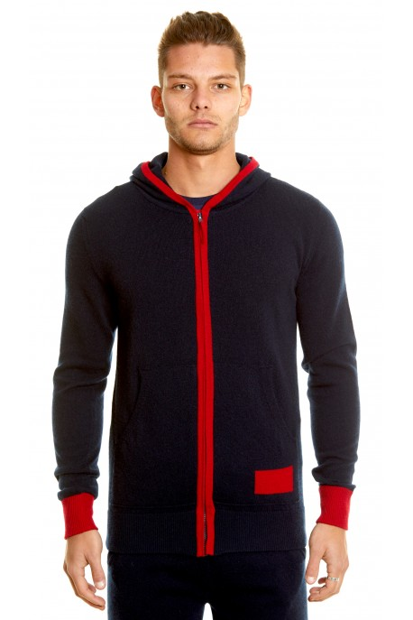 PURE CASHMERE HOODED JACKET