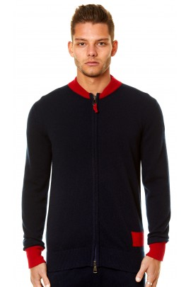 PURE CASHMERE FULL ZIP CARDIGAN
