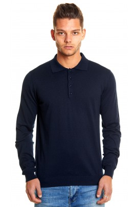 CASHMERE&SILK POLO SWEATER