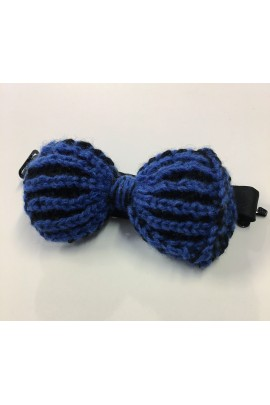 Pure Cashmere blue and black Bow Tie