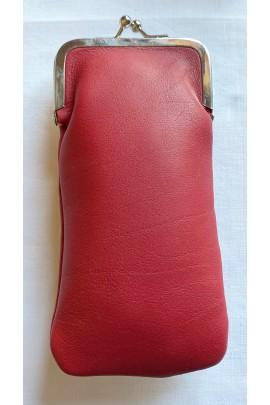 Red eyeglasses holder