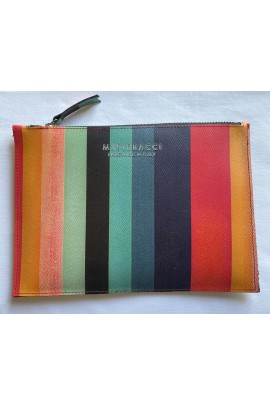 Multicolor leather pouch