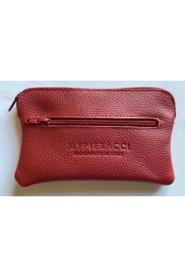 Red leather coin purses