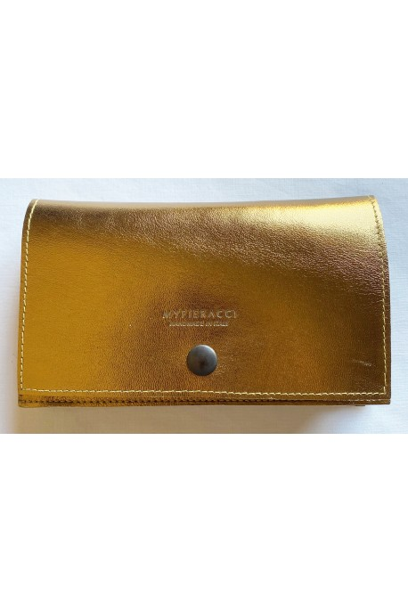 Gold Leather Tobacco Pouch