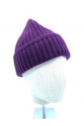 Pure Cashmere Purple Beanie