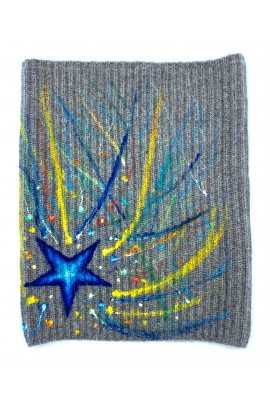 Pure Cashmere Hand Painted Neck Warmer
