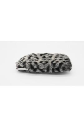 Grey faux fur eyeglasses holder