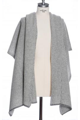 Pure Cashmere White&Grey Shawl Dressing